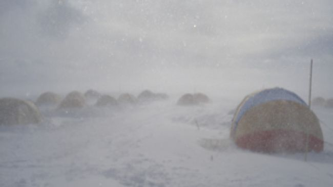 Wind Blows Over Base Camp
