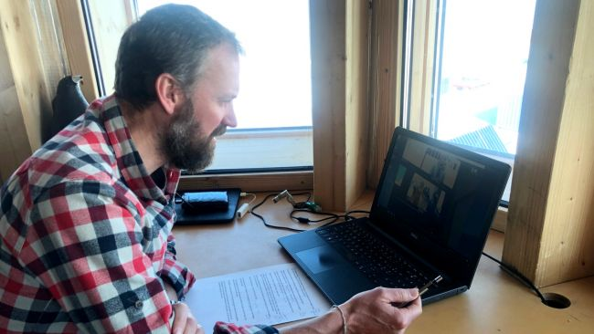 Scenes from IPF's Skype Classes from the Princess Elisabeth Antarctica