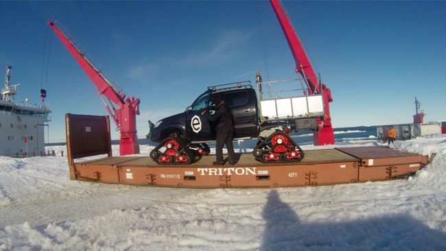 Customised Toyota Hiluxes in Antarctica