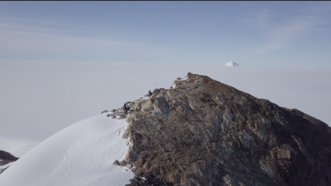 Beautiful Drone Video of Vesthaugen Nunatak