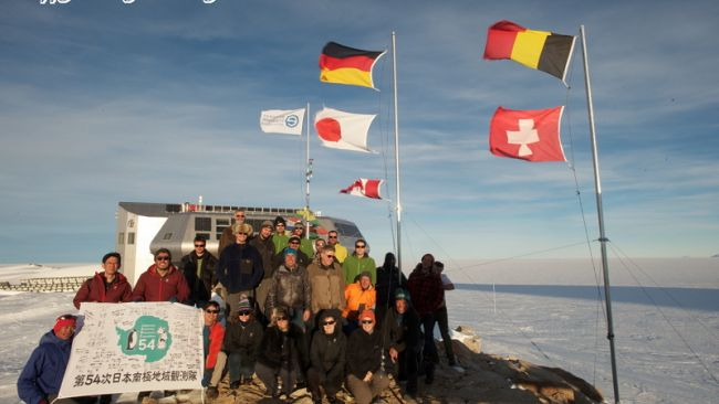 The Team at Princess Elisabeth Antarctica, New Year's Day 2013 - © International Polar Foundation