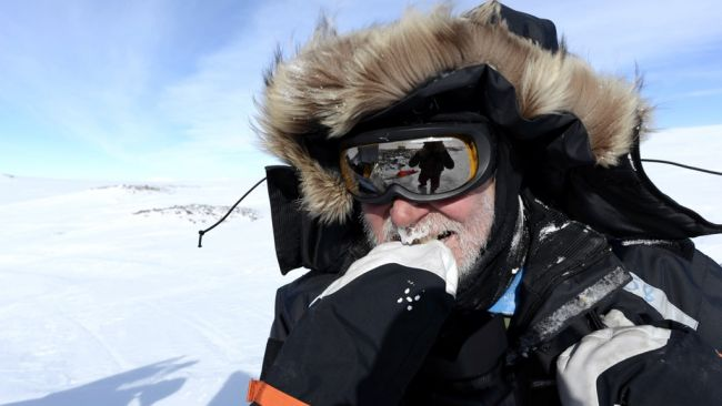Jos Van Hemelrijck's snowy moustache - © International Polar Foundation / Jos Van Hemelrijck