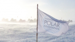The International Polar Foundation, flying the flag at Princess Elisabeth Antarctica - International Polar Foundation