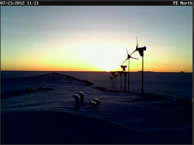 Webcam image from Princess Elisabeth Antarctica, July 2012 - 2012 International Polar Foundation