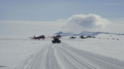 Fuzzy picture of a Feeder Flight - International Polar Foundation / René Robert