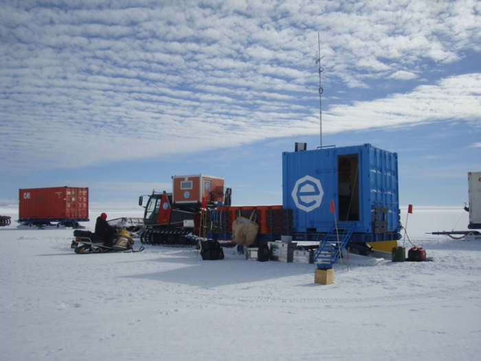 Better weather makes for easier logistics at the field camp.  - International Polar Foundation/Alain Hubert